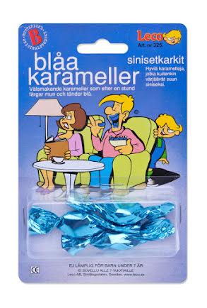 Blåa karameller