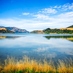Beautiful Bay by Tony Buckley - Landscapes Waterscapes ( waterscape, cloud, akaroa, new zealand )