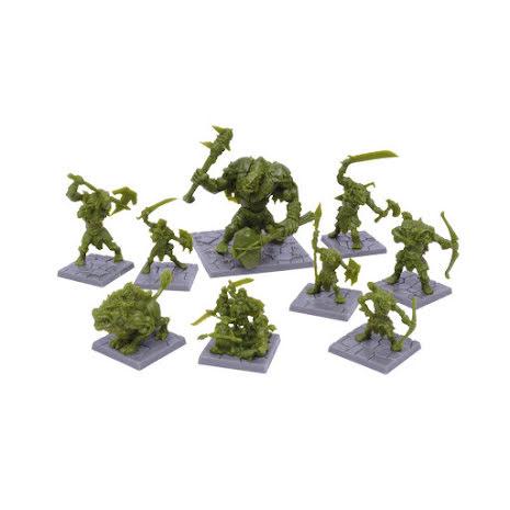 Dungeon Saga: Green Rage Miniatures Set