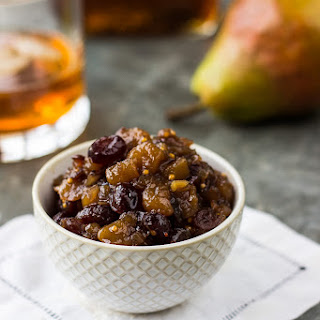 Pear Cranberry Bourbon Chutney.