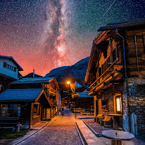 Zermatt by Aamir DreamPix - City,  Street & Park  Neighborhoods ( mountains, mountain, europe, night photography, stars, zermatt, switzerland, milky way,  )