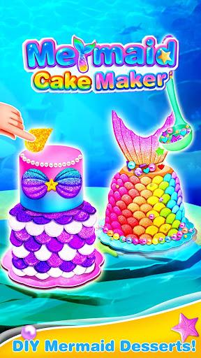 Mermaid Cake Decorating u2013 Girl Games for Free 1.3 screenshots 1