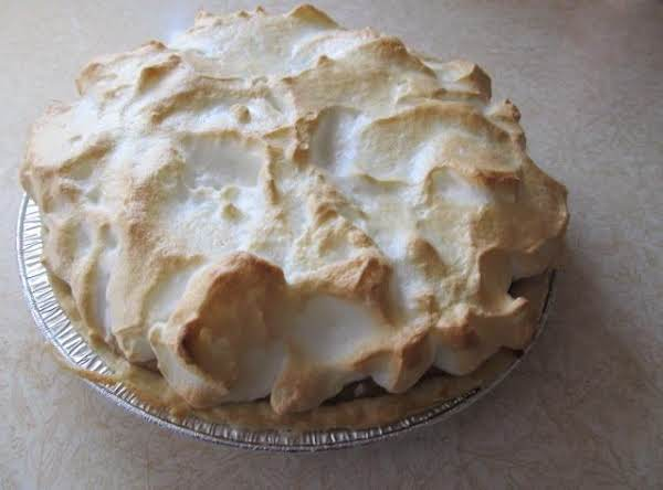 Topped With Fluffy Merangue A Perfect Pie For Desert