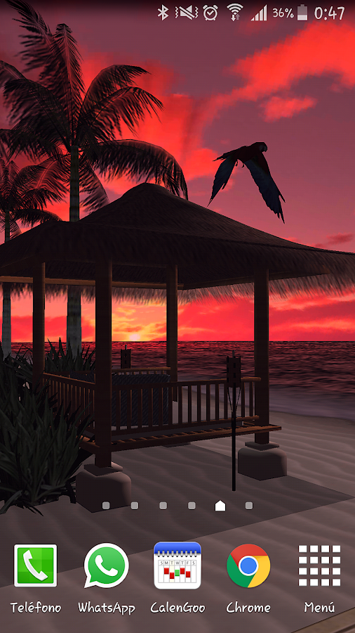 Beach In Bali 3D PRO LWP- screenshot