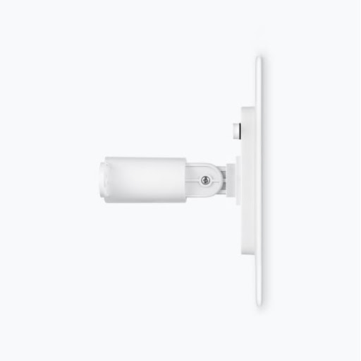 Side view showing the slim design of the 360-degree wall mount attached to Wasserstein Solar Panel for Google Nest Cam (outdoor or indoor, battery)