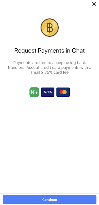 Create Payment Request feature on Facebook Messenger