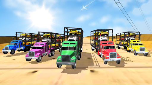 Car transporter on Mega Ramp - screenshot