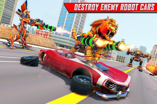 Lion Robot Car Transforming Games: Robot Shooting 1.4 screenshots 3
