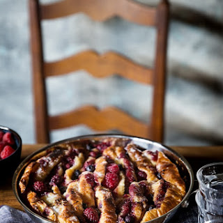 Mixed Berry Croissant Bread Pudding.