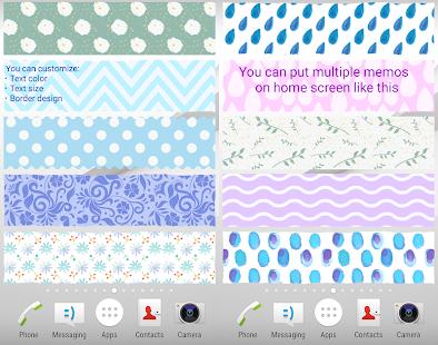 Sticky Memo Notepad *Ocean* - náhled
