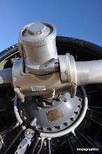 Photo: Système de pas variable sur le Pratt & Withney d'un T6