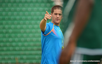 Photo: Head Coach, Johnny McKinstry [Training Camp ahead of Leone Stars v Swaziland Game on 31 May 2014 (Pic: Darren McKinstry)]