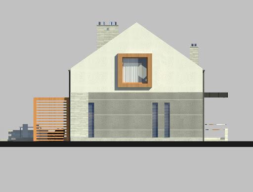 LIM House 01 - Elewacja lewa