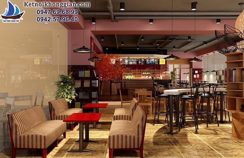 thiết kế quán cafe sách đa phong cách