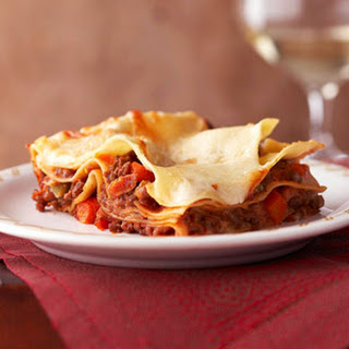 Meaty Lasagna Bolognese.