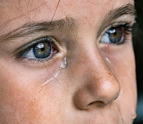 Una lacrima sul viso