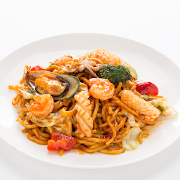 Seafood Noodle with Oyster sauce