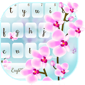 Orchid Flower Keyboard Theme