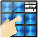 Dj hiphop maker sound bass pad icon