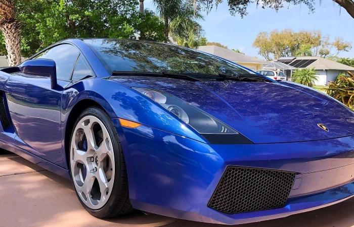 a sports car parked in a Sarasota, FL neighborhood