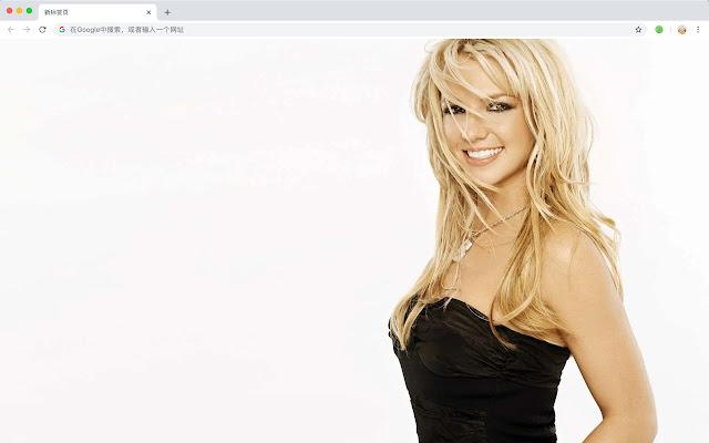 Britney Spears New Tab HD Pop Stars Theme