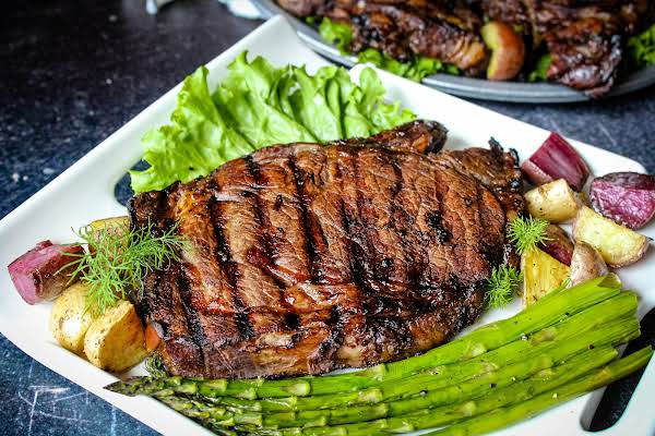 Bold Tastin' Grilled Steak On A Plate.