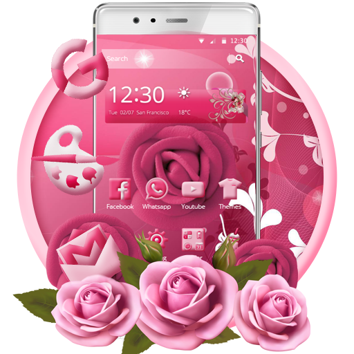 Pink Rose Mobile Theme file APK for Gaming PC/PS3/PS4 Smart TV