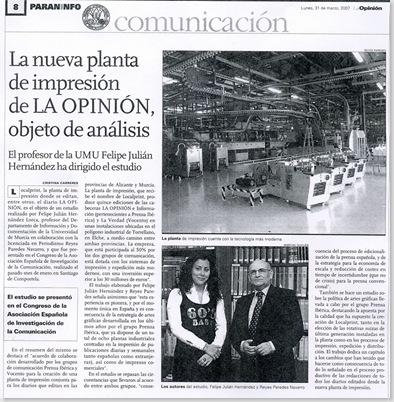 Ponencia sobre Localprint en La Opinión