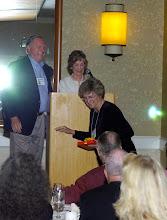 Photo: Susie Cumins Newell presented award for most grandchildren
