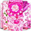 Pink rose silk live wallpaper APK