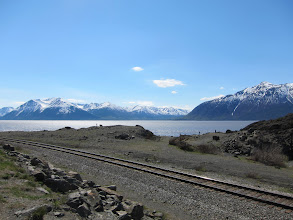 Photo: Alaska Railroad along Turnagain Arm