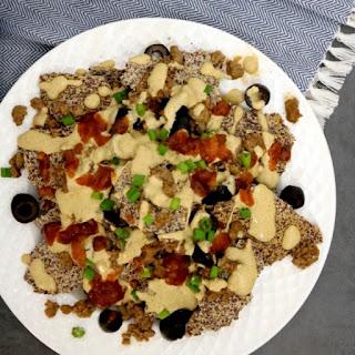 Low Carb Vegan Nachos Con Queso Recipe