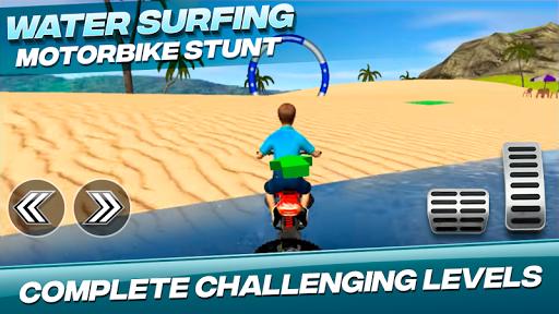 Water Surfing Motorbike Stunt  image 4