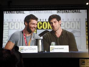 Photo: Saturday (Dana) - TV Guide Fan Favorites panel; Liam McIntyre and David Giuntoli