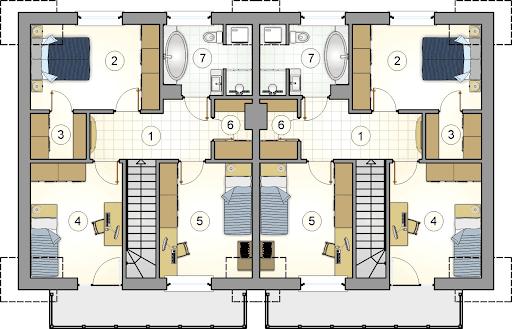Double House - Rzut poddasza