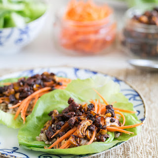 Spicy Cashew Lettuce Wraps