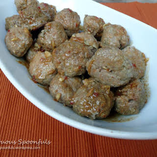 Spicy Asian Ginger Meatballs.