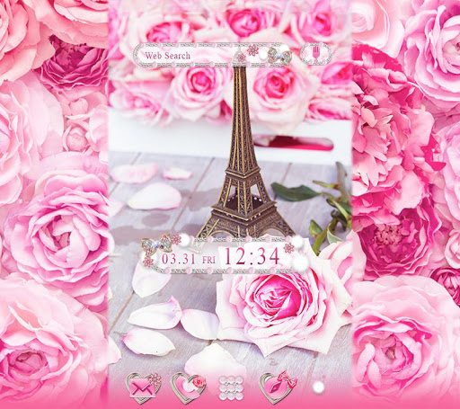 Lovely Theme Roses & Paris 1.0.0 Windows u7528 1