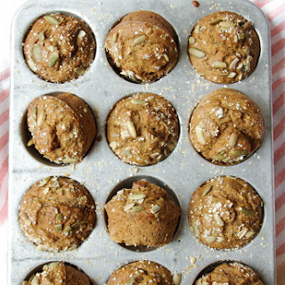 Healthy Banana Pumpkin Muffins.