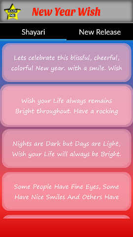 android New Year Wish SMS Screenshot 1
