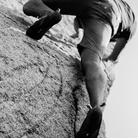 On the rocks by Vikram Kattoju - Sports & Fitness Climbing ( climbing, climb, boulders, light, rocks )