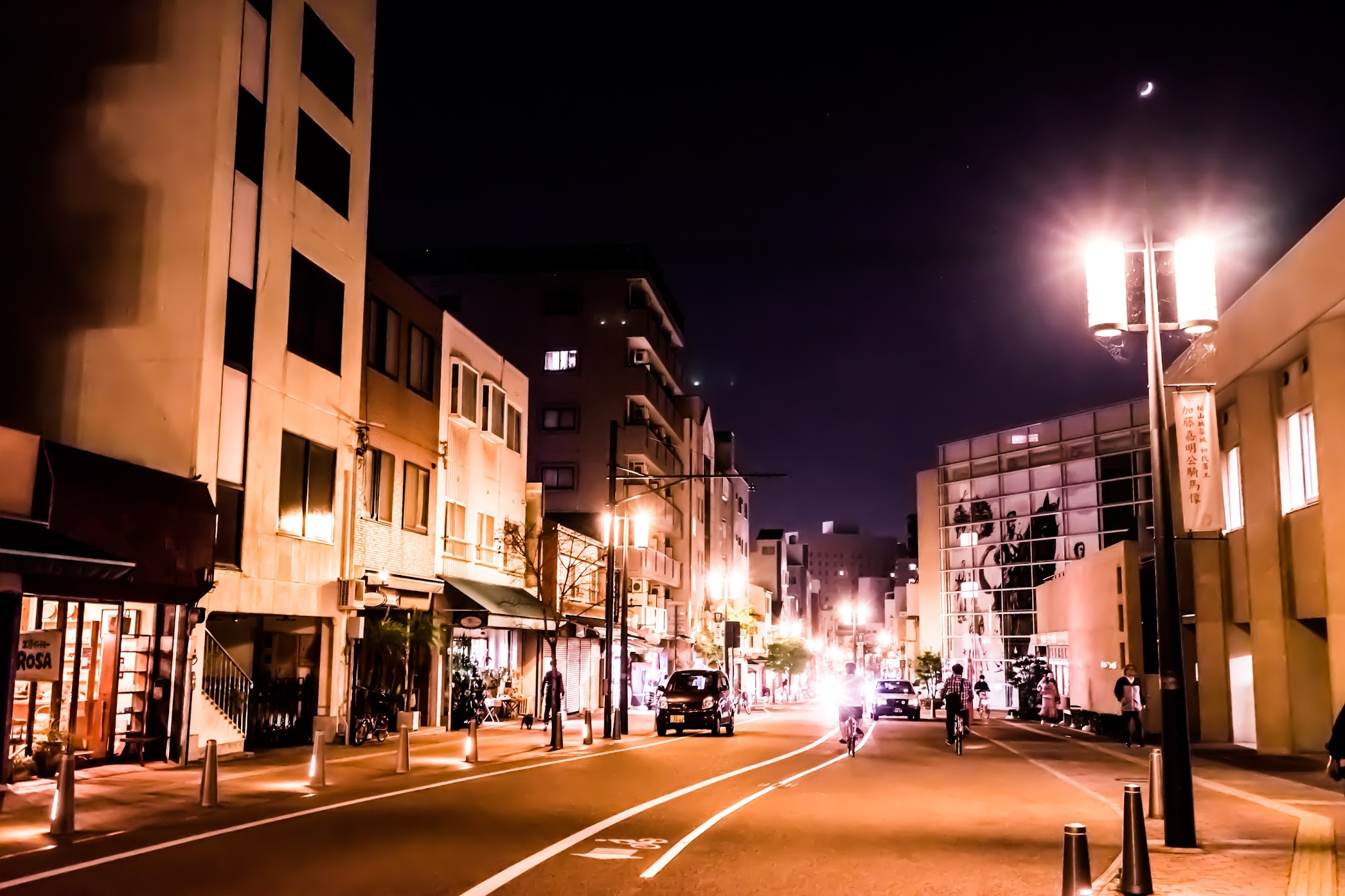 松山 ロープウェイ街 夜景
