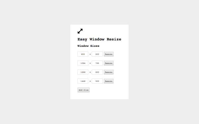 Easy Window Resize