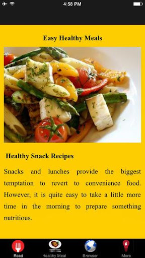 Easy Healthy Meals Guidlines