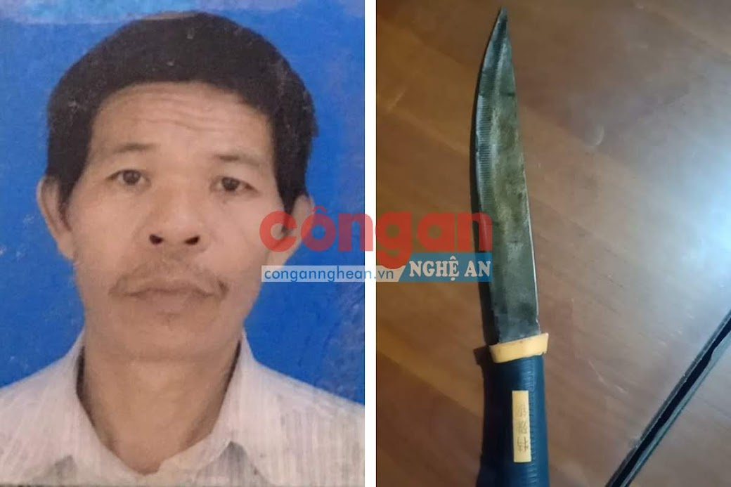 Đối tượng Nguyễn Văn Long và hung khí gây án