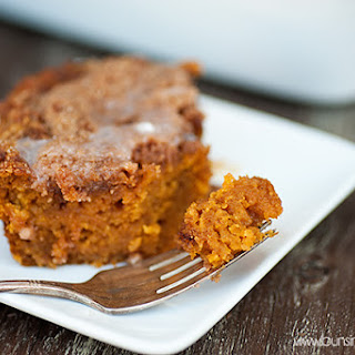 Cinnamon Swirled Glazed Pumpkin Coffee Cake