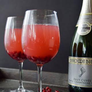 Pomegranate Champagne Spritzer.