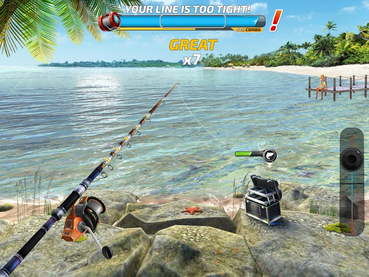 Fishing clash catching fish game bass hunting 3d for Ice fishing apps