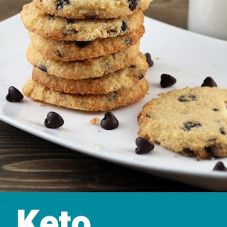 Chewy Keto Chocolate Chip Cookies.