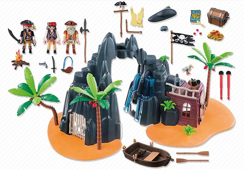 Contenido Real de Playmobil® 6679 Isla del Tesoro Pirata